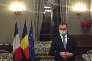 Premierul României, Ludovic Orban la Ambasada României din Paris, 27 octombrie 2020.