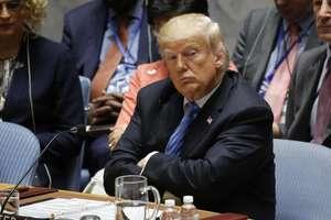 Presedintele american Donald Trump în timpul unei reuniuni a Consiliului de Securitate ONU, 26 septembrie 2018 la New York.