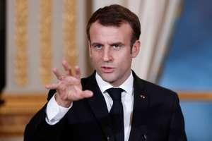 Presedintele Emmanuel Macron în timpul unei conferinte de presa la Elysée, 17 decembrie 2018.
