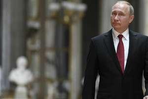Presedintele Rusiei, Vladimir Putin, la Versailles pe 29 mai 2017