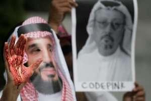 Protest în Washington DC dupa disparitia jurnalistul saudit Jamal Khashoggi, ucis în Consulatul Arabiei Saudite la Istanbul,  8 octombrie 2018.