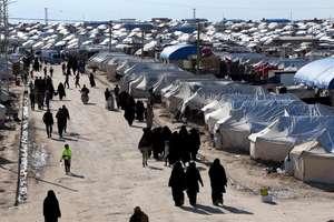 Lagàrul de refugiati al-Hol din Siria unde erau, în aprilie 2019, peste 76.000 de refugiati.