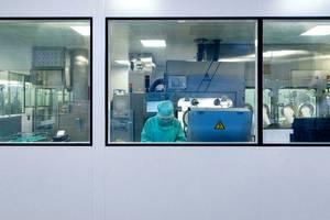 Centru de distributie al laboratorului farmaceutic Sanofi, Val-de-Reuil, 10 iulie 2020.