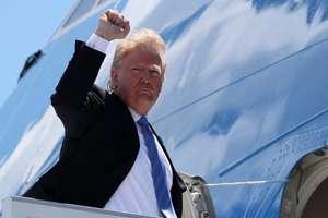 Donald Trump pàràsind Canada pentru Singapore, 9 iunie 2018
