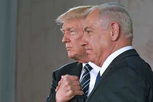 Presedintele american Donald Trump si premierul israelian Beniamin Netaniahu, la Ierusalim, 23 mai 2017