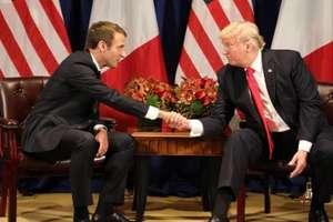 Emmanuel Macron si Donald Trump, luni 18 septembrie 2017, într-un hotel din New York în ajunul discursurilor lor la ONU
