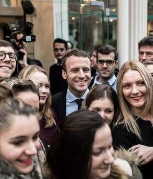 Emmanuel  Macron se doreste, printre altele, candidat al tinerilor