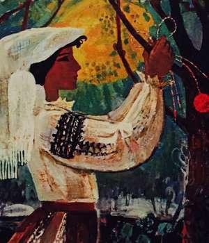 Igor Vieru, Martisor, 1975, ulei pe panza, din colectia Muzeului National de Arta al Moldovei