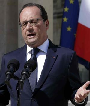 François Hollande, presedintele Frantei, pe 29 iunie comentând ruperea negocierilor cu Grecia