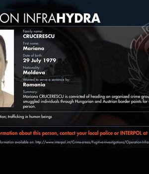 Moldoveanca Mariana Crucerescu, datà în urmàrire de Interpol alàturi de alti peste 100 de traficanti de migranti