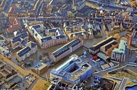 Fotografie aeriană a orașului York, cu o populație de 200000 de locuitori din nordul Angliei, inundat de râul Ouse (Foto Glen Minikin)