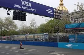 Linia de start a cursei de Formula E din Paris
