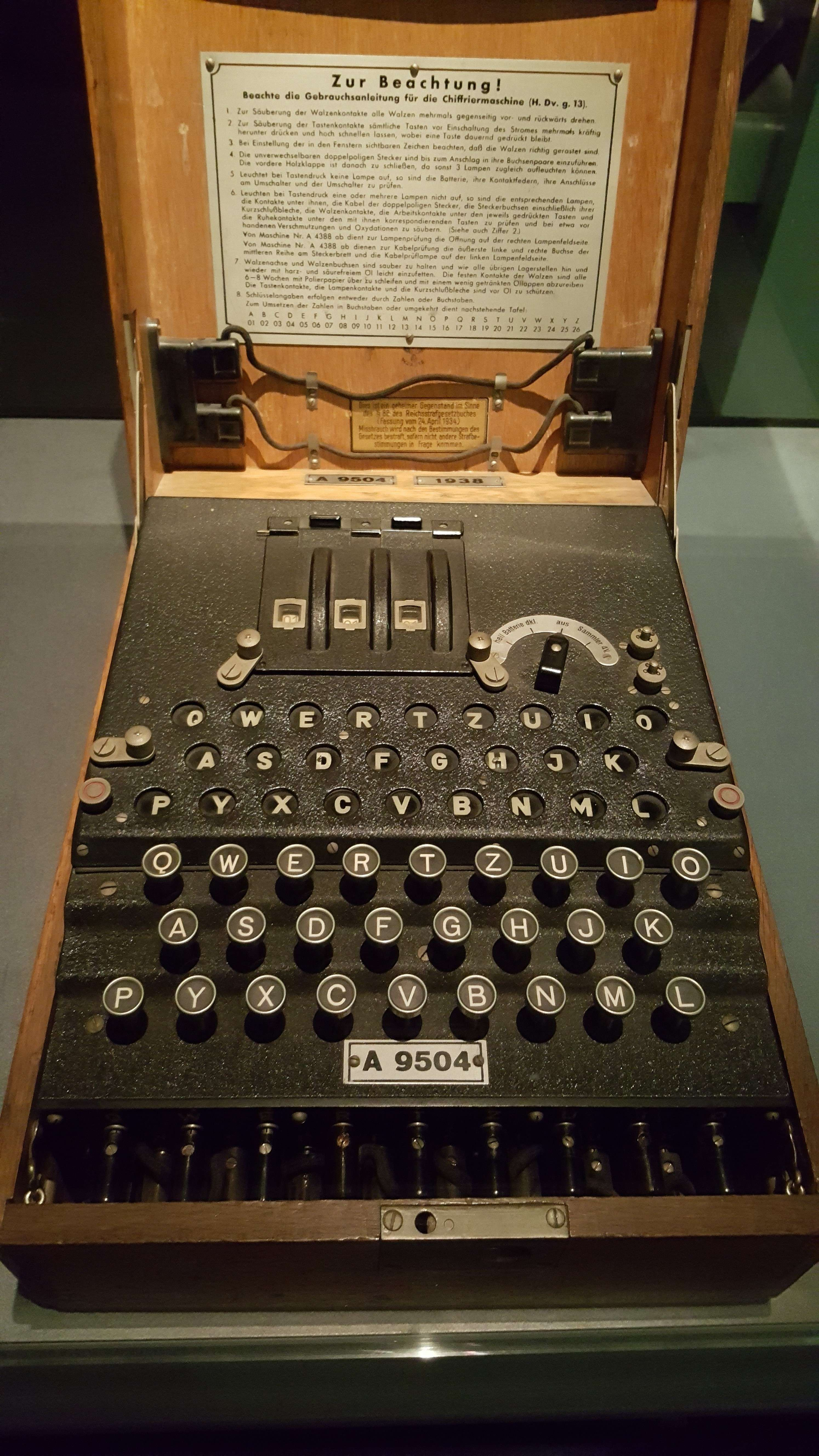 "Masina electromecanicà de codificat ""Enigma"""