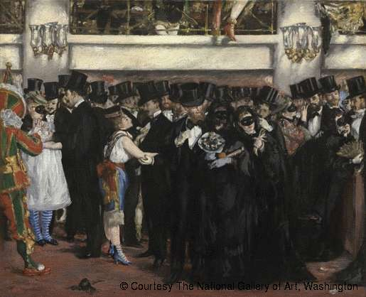 Edouard Manet, Bal masqué à l'Opéra, The National Gallery of Art, Washington, USA