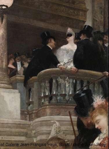 Henri Gervex, Le bal de l'Opéra, Paris, Galerie Jean-François Heim, Bâle, Suisse