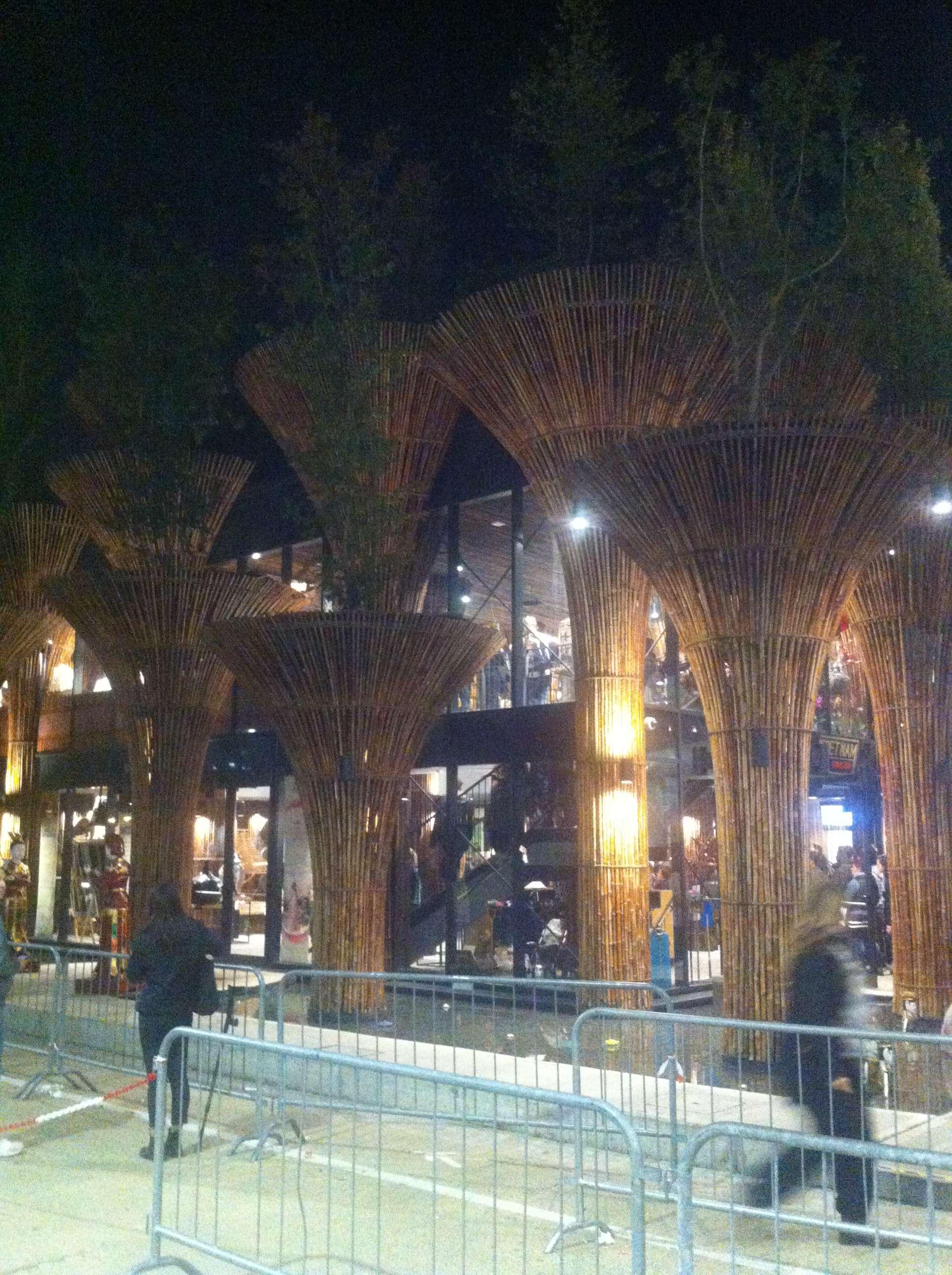 Pavilionul Vietnamului cu niste stâlpi impresionanti la intrare