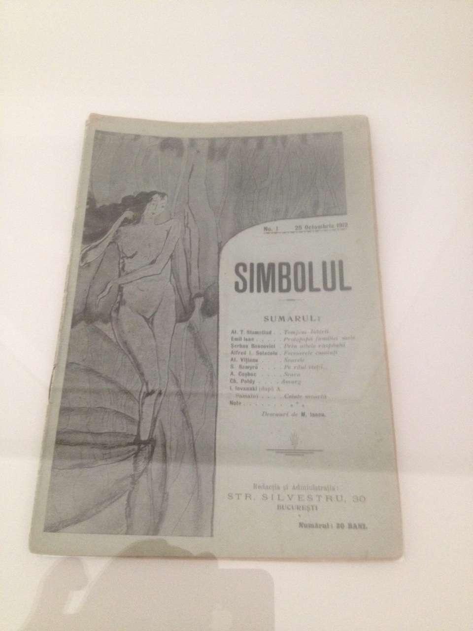 Revista Simbolul, cea în care adolescentul Tristan Tzara si-a publicat primele poeme