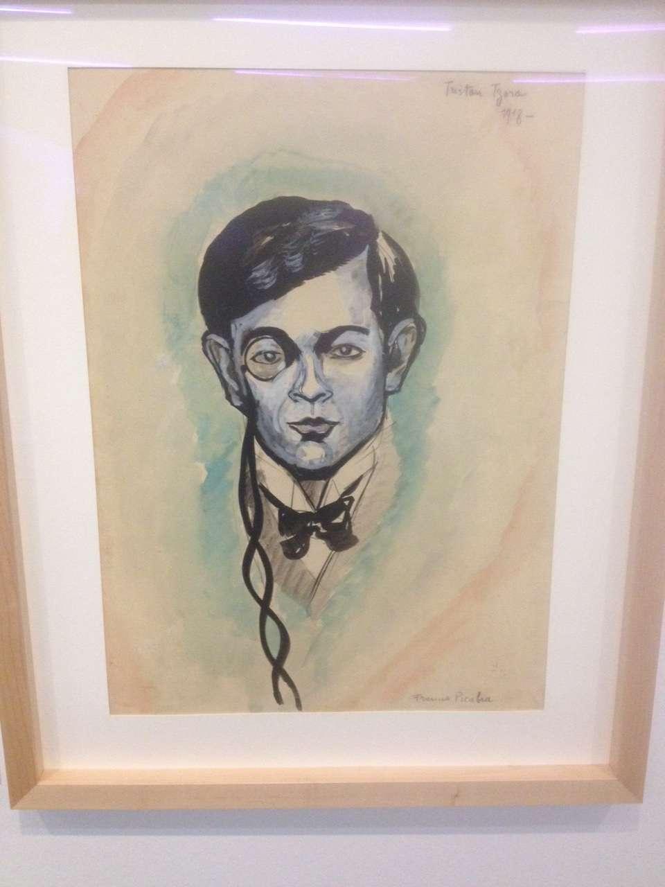 Tristan Tzara pictat de amicul sàu parizian Francis Picabia, 1918