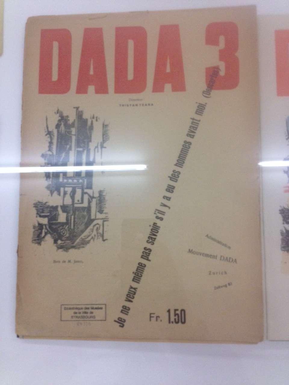 Exemplar al revistei Dada editatà si condusà de Tristan Tzara
