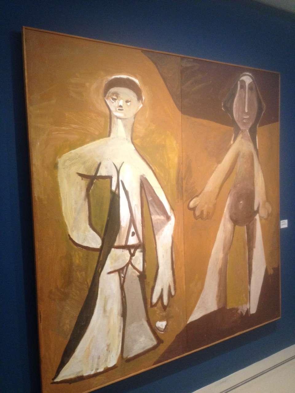 """Personaje în picioare"", Pablo Picasso, 1958"