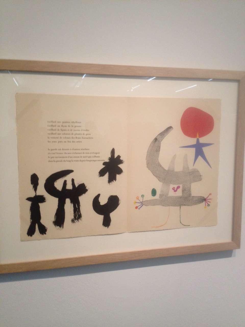 """Litografie pentru cartea lui Tristan Tzara """"Parler seul"""", Joan Miro, 1950"""