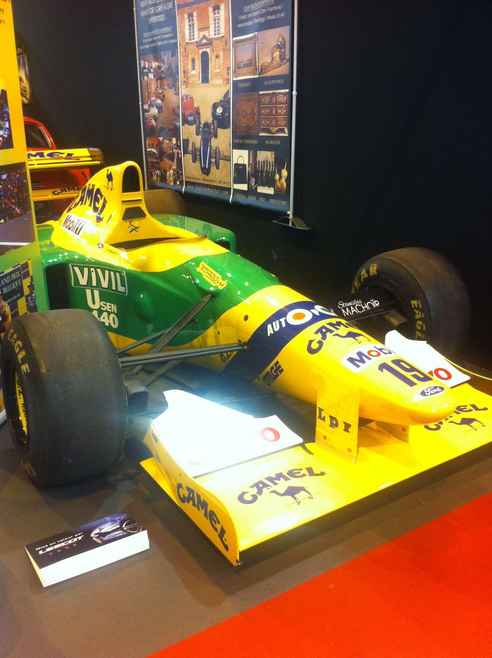 Benetton, Formula, 1, masina cu care pilotul german Mickaël Schumacher a câstigat primul sàu mare premiu, Belgia-Spa Francorchamps, august 1992