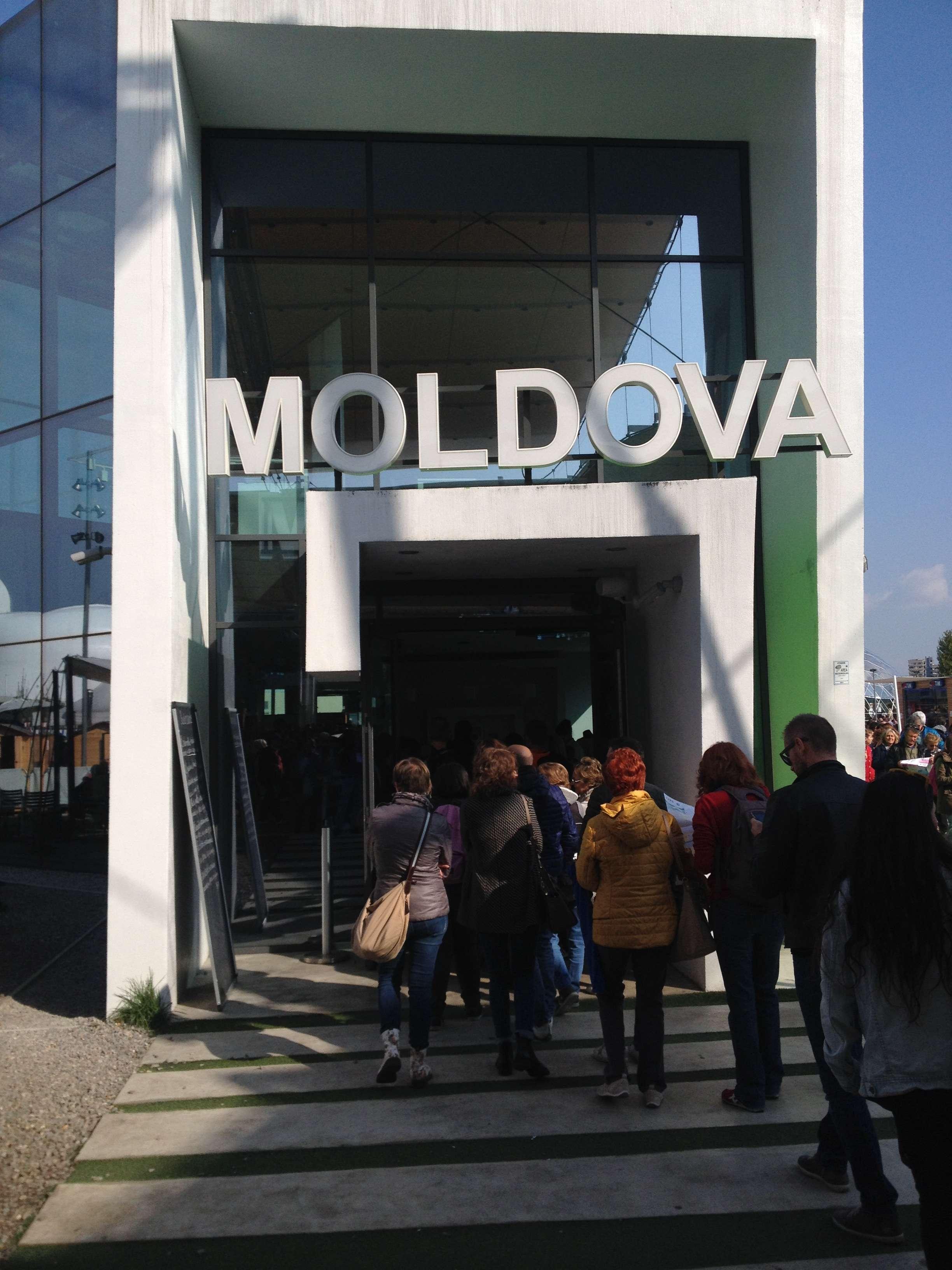 Intrarea la pavilionul Republicii Moldova