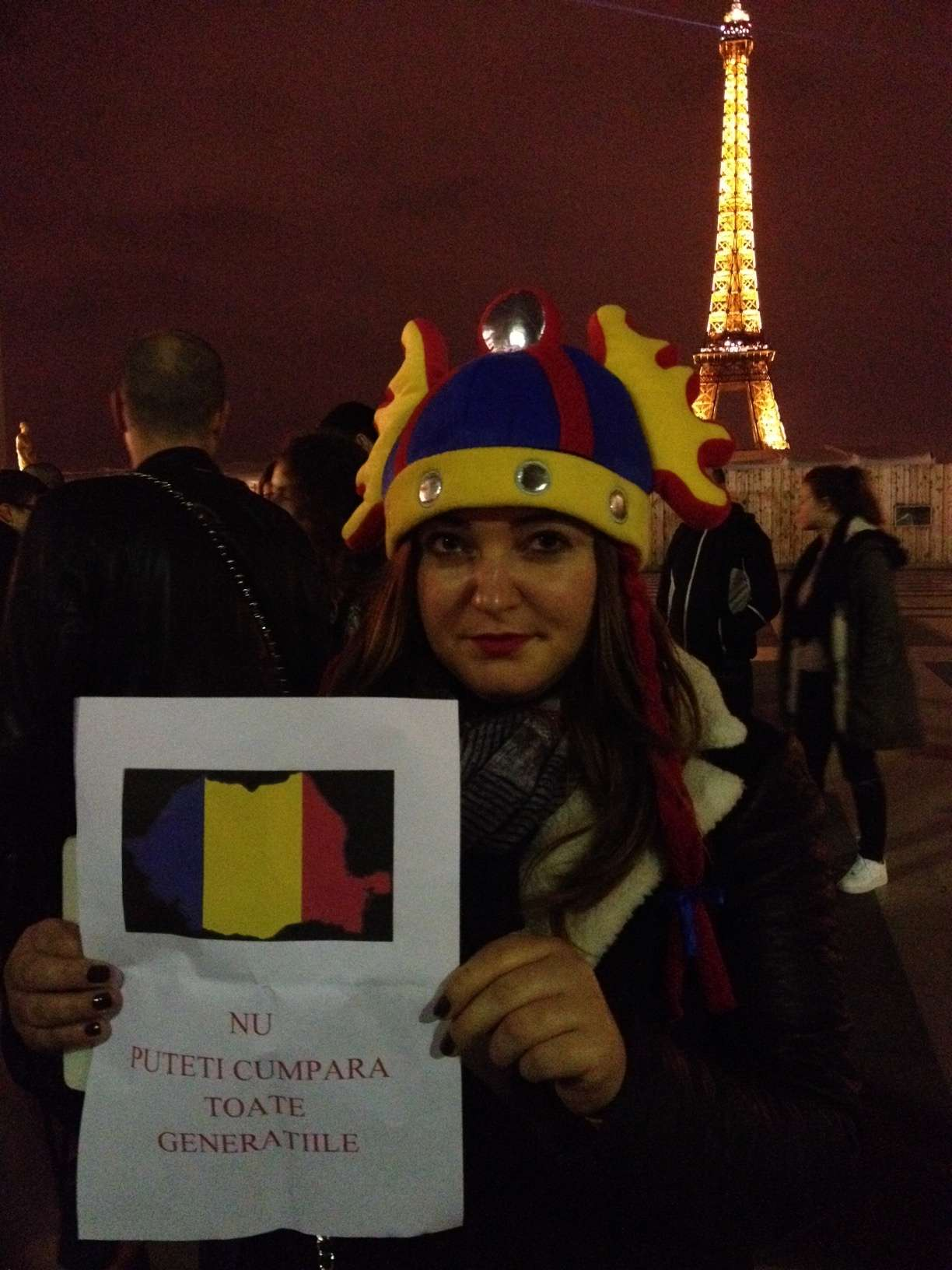 O manifestantà româncà din Paris
