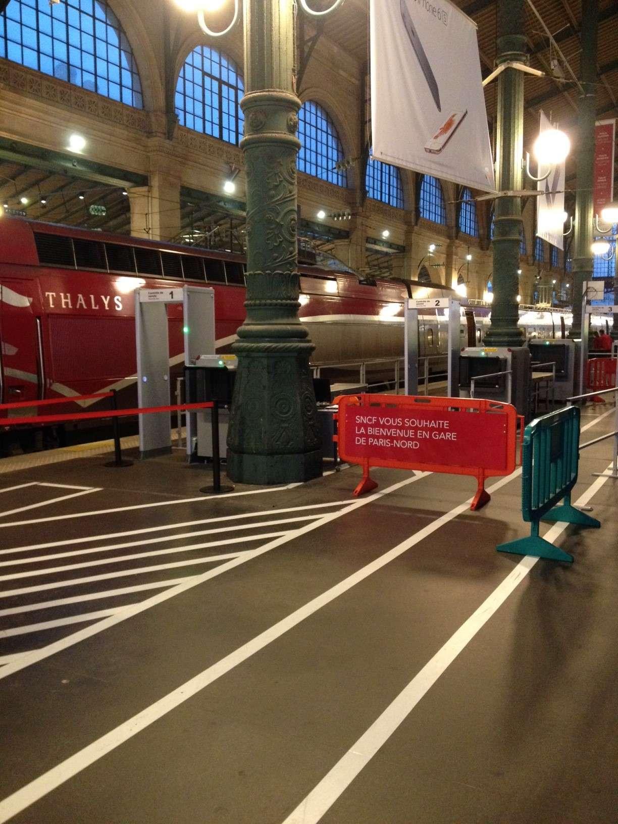 Trenurile Thalys sunt singurele pentru moment controlate cu porti si scannere