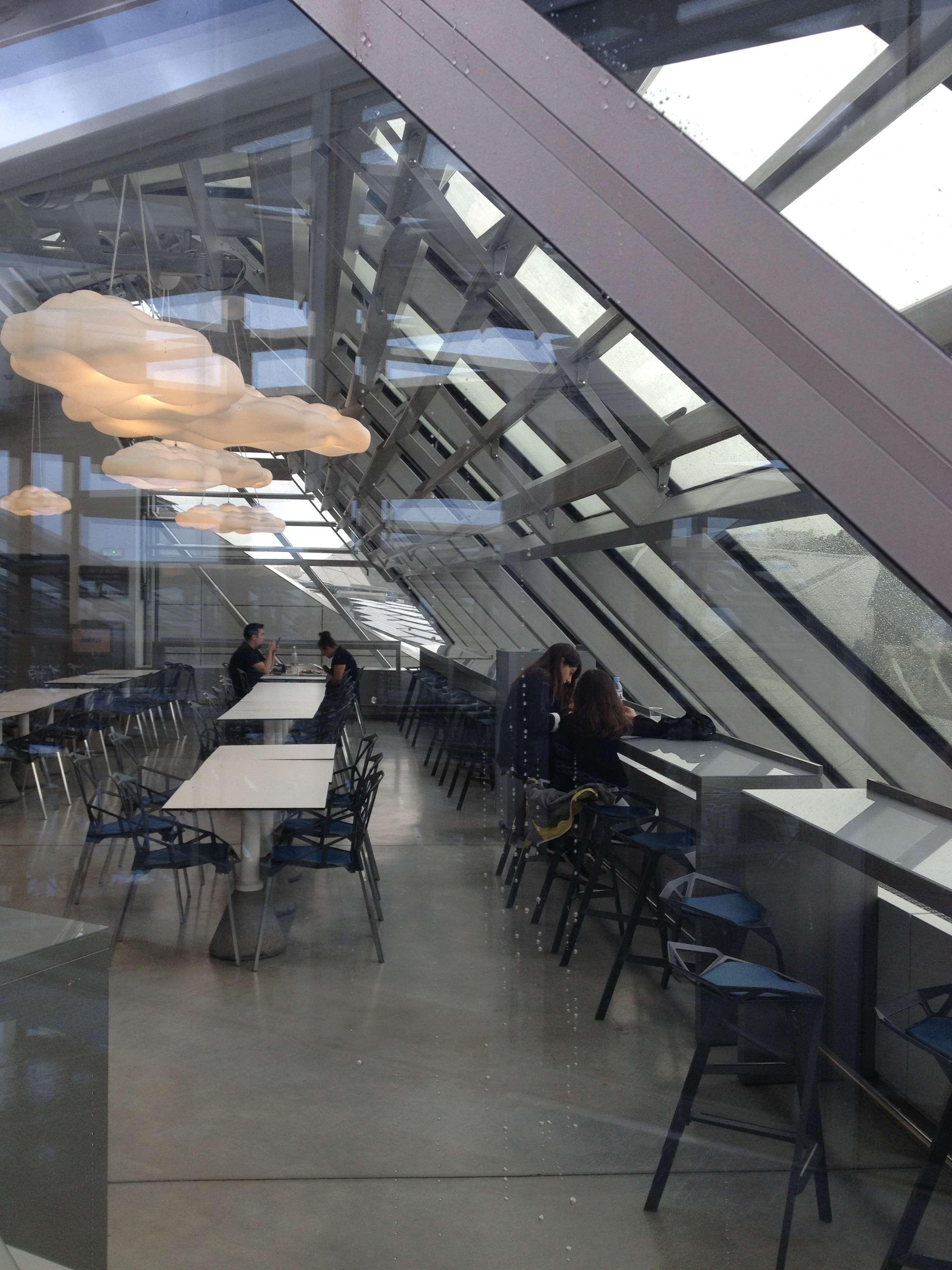 Si pe acoperis existà un restaurant cu vedere spre Lyon (si autostradà...)