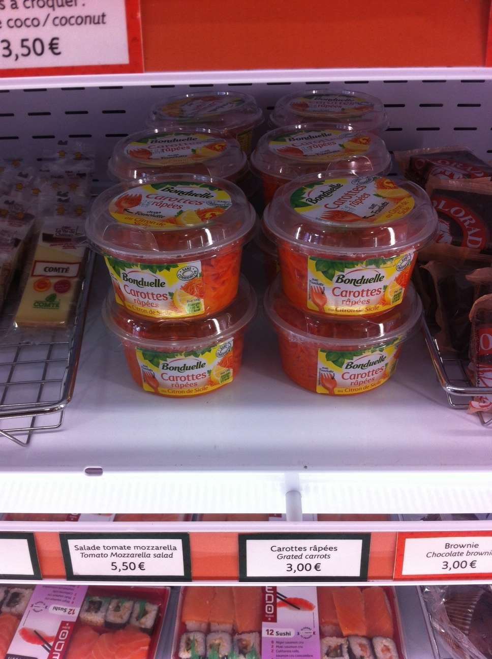 O salatà de morcovi costà 3 euros