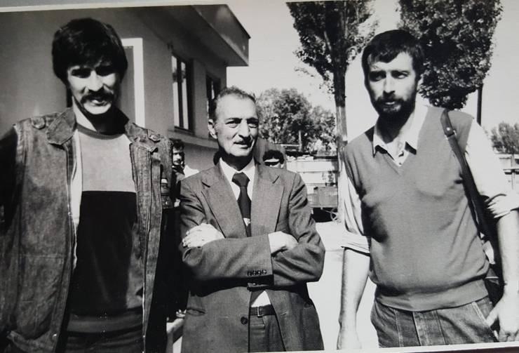 Stefan și Florin (dreapta) Constantin cu tatăl lor
