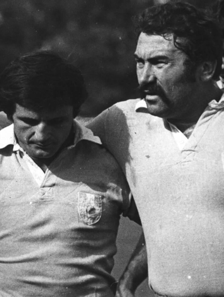 Mircea Munteanu (stânga) și Constantin Dinu