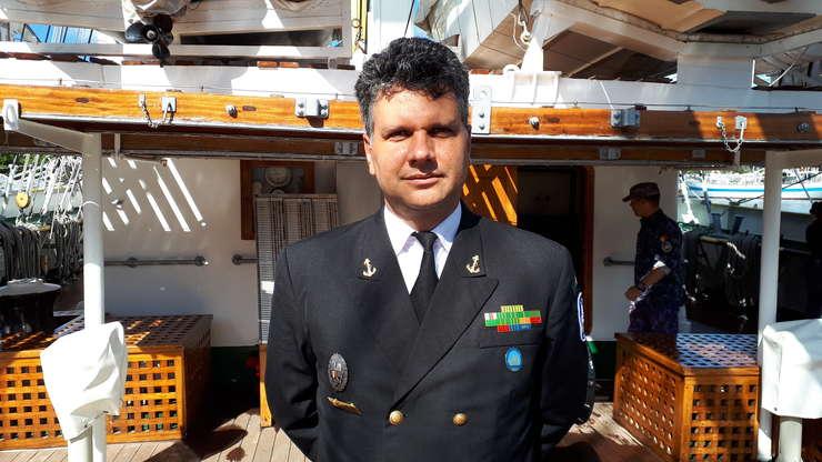 """Mircea Târhoacă, comandantul bricului \""""Mircea\"""""""