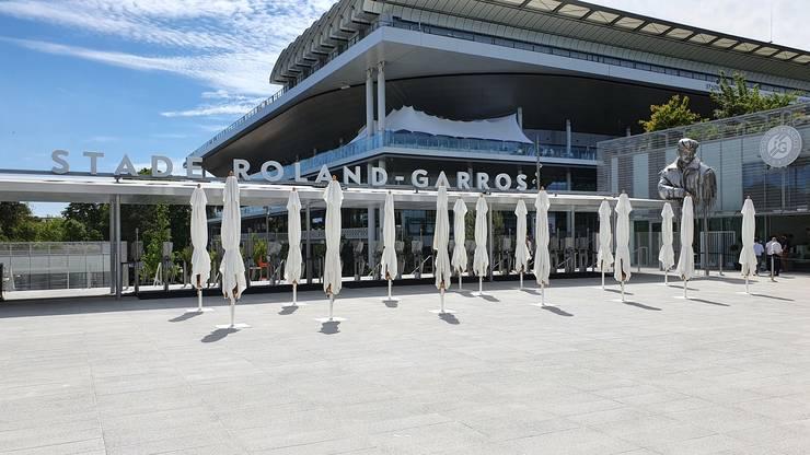 Noua intrare în incinta de la Roland-Garros.
