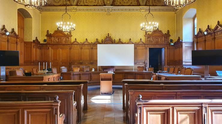 Sala rezervatà pàrtilor civile si avocatilor care nu au putut intra în sala principalà a procesului.