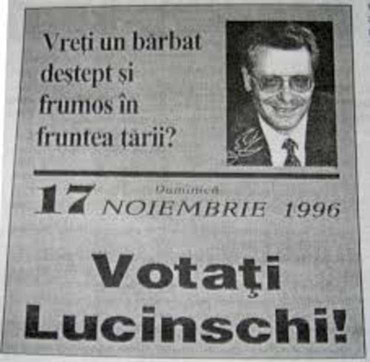 Afiș electoral al lui Petru Lucinschi