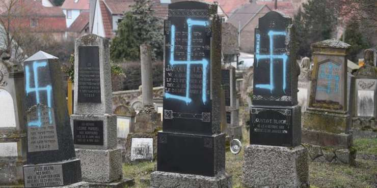Cimitir evreiesc din Alsacia profanat