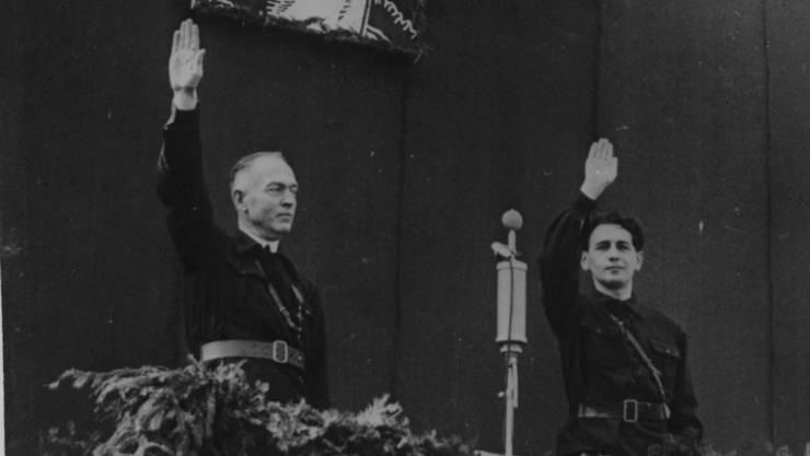 Ion Antonescu cu Horia Sima