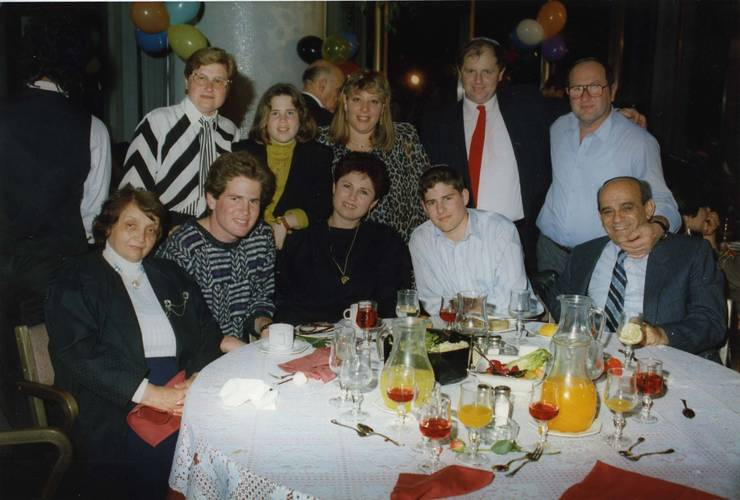 Aristina Pop Săileanu cu familia Marmor