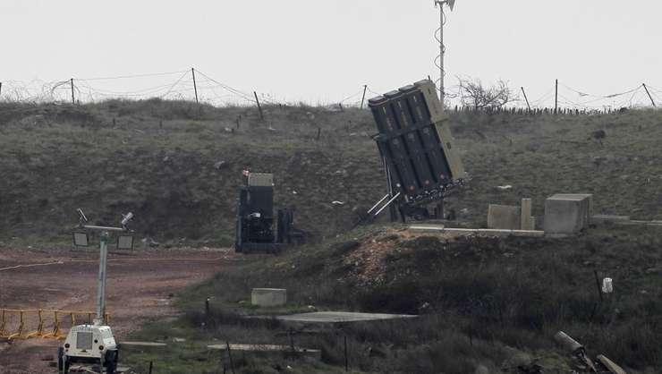 Sistem de aparare anti-aeriana instalat de Israel pe platoul Golan, la frontiera cu Siria, 17 martie 2017.