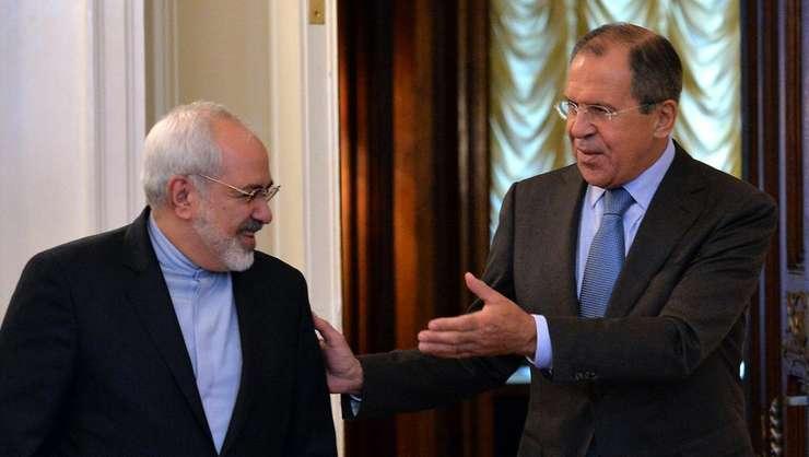 Mohammad Javad Zarif şi Serghei Lavrov în cursul unei precedente întîlniri.