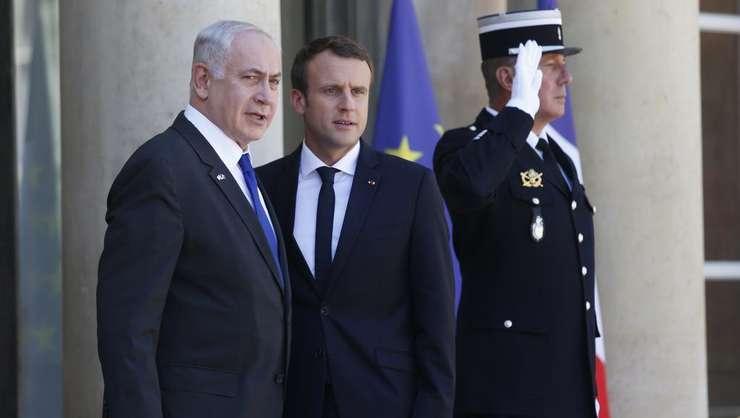 Benjamin Netanyahu împreuna cu Emmanuel Macron cu ocazia unei precedente vizite la Paris