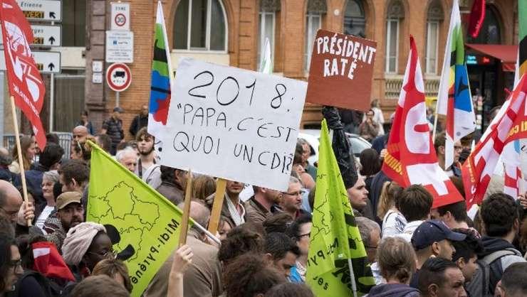 Manifestatie la Toulouse împotriva reformei Codului Muncii