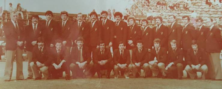 Lotul echipei României în turneul din Zimbabwe 1982