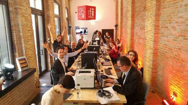 Redactia RFI Romania la Hanul Gabroveni, in Centrul Vechi