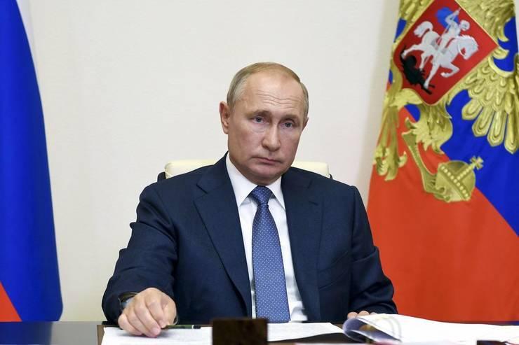Vladimir Putin, presedintele Rusiei, luni 31 august 2020.