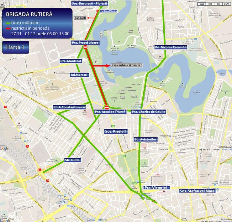 Harta Restricţii De Circulaţie In Capitală Servicii De Urgenţă
