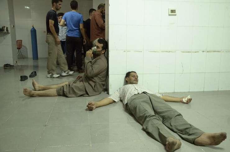 Victime ale unui atac cu gaz comis în 2013 la Ghouta