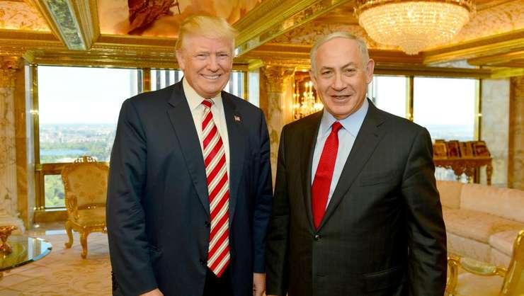 Donald Trump si Benjamin Netaniahu în cursul unei întîlniri la New York în septembrie 2016